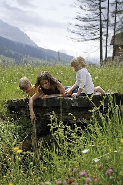 Kinder spielen unbeschwert in der freien Natur...