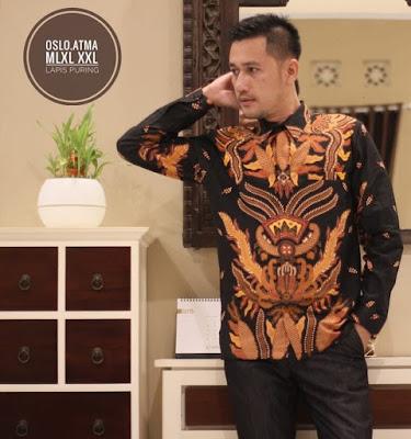 kemeja batik pria modern lengan panjang, kemeja batik kombinasi pria modern lengan panjang, jual kemeja batik pria lengan panjang