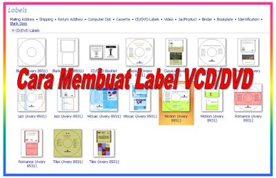 Cara Membuat Label VCD atau DVD dengan program Microsoft ...