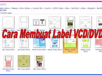 Cara Membuat Label VCD atau DVD dengan program Microsoft Publisher