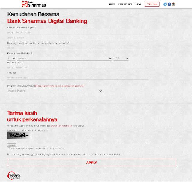 Form Tabungan Online Bank Sinarmas