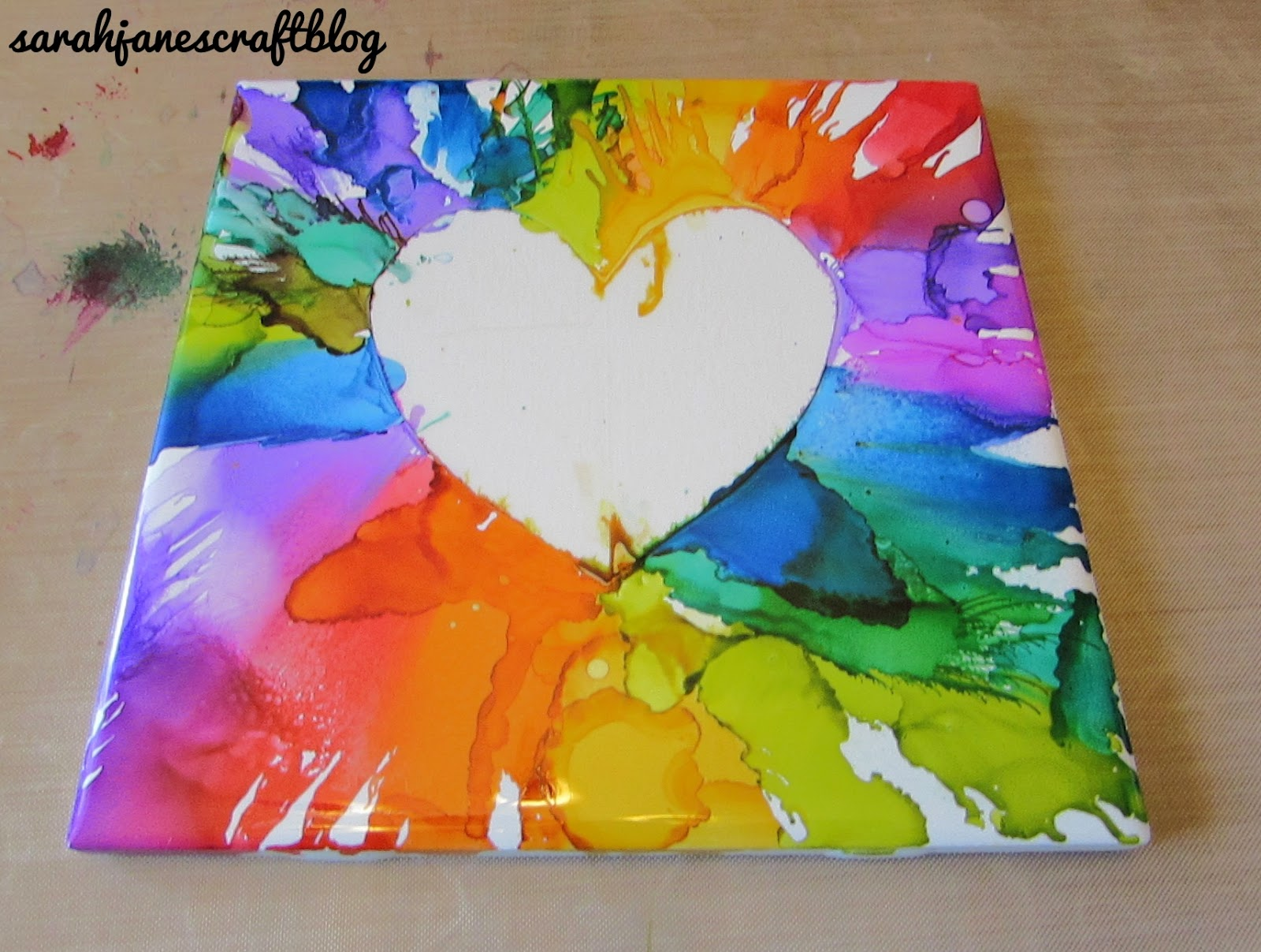 how to make alcohol ink tiles