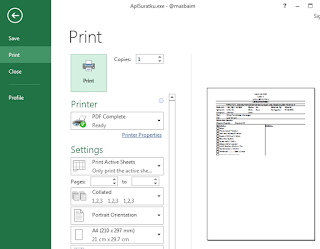 Download Aplikasi Surat Format Excel