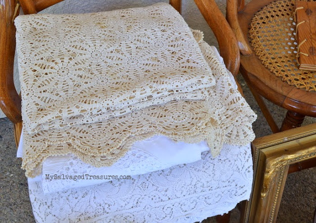 vintage linens tablecloths flea market finds