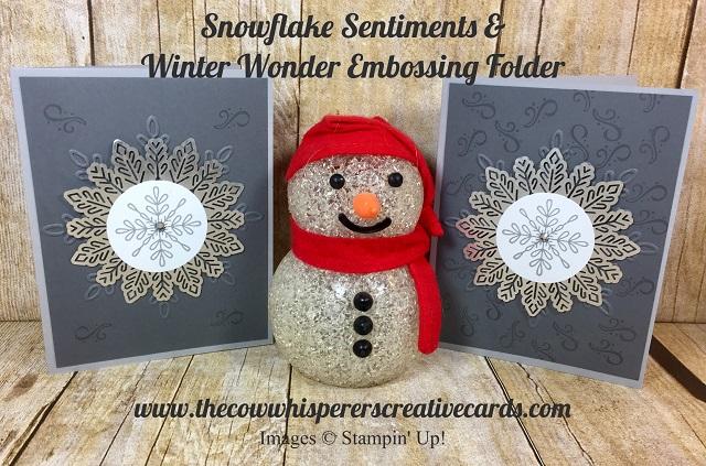 Card, Clean & Simple, Snowflake Sentiments, Winter Wonder Embossing Folder