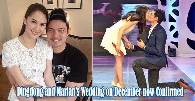 Dingdong Dantes and Marian Rivera's Wedding on December now Confirmed