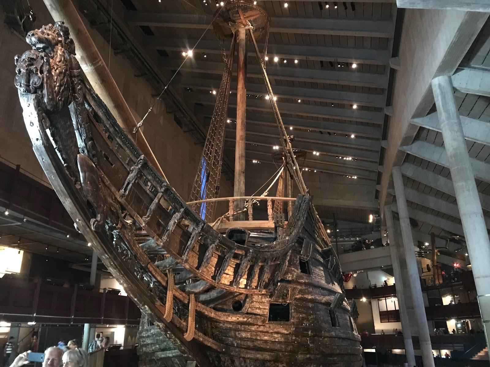 Navio do século 17 em Estocolmo Suécia