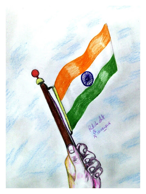PENCIL DRAWING -  Independence Day ( INDIA )