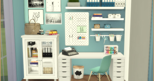 Lanei Work Space. Sims 4 Custom Content.