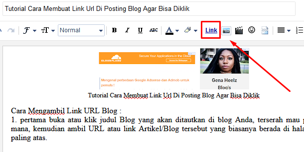 Tutorial Cara Membuat Link Url Di Posting Blog Agar Bisa Diklik