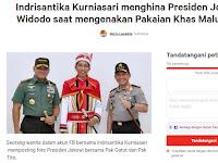 Diduga Hina Presiden Jokowi dan Pakaian Adat Maluku, Netizen Ini Dipetisikan