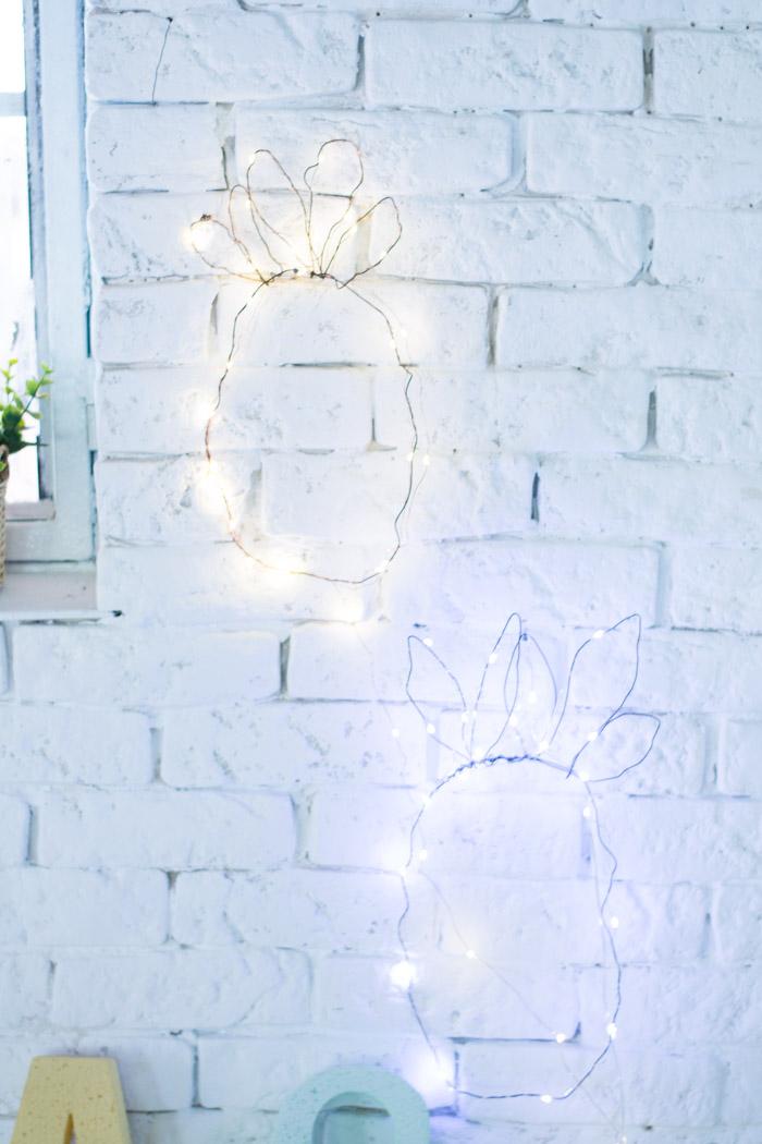 Piña alambre con luces diy