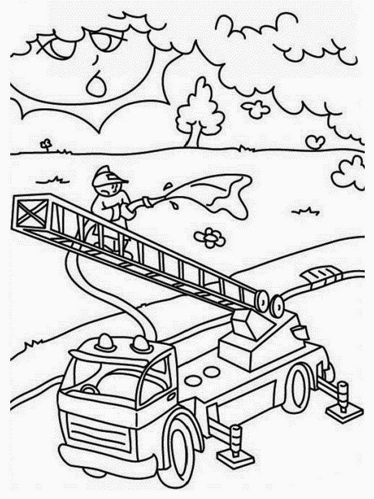 free fire truck coloring pages printable - amblanc and firetruck free coloring pages