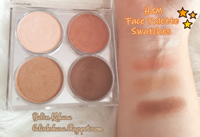 H&M Face Palette Swatch