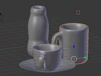 Membuat Cangkir (Coffee Cup), Gelas dan Piring dengan Blender- Tutorial Blender