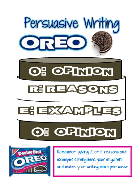 Our Cool School: Persuasive Writing: OREO....updated with ...