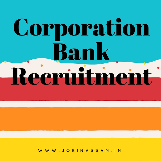Corporation Bank Recruitment 2017, Manager