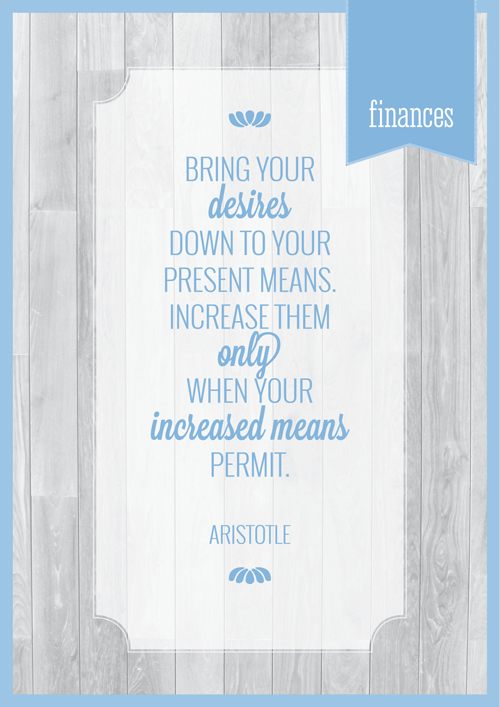 Free Printable Home Organizer: Finances Section Cover