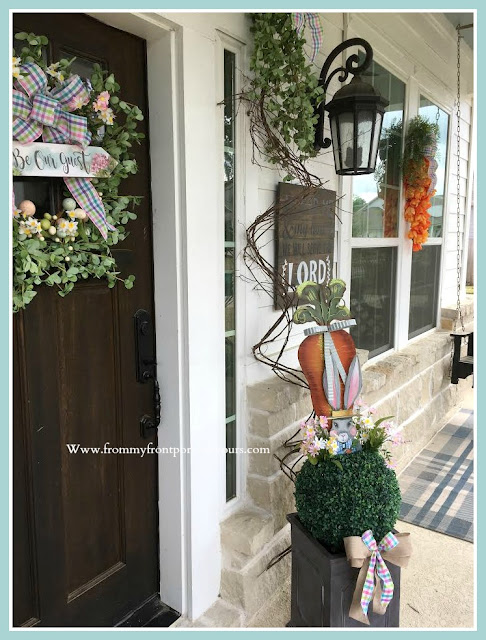 Spring Easter Front Porch-Wreath-topiary-From My Front Porch To Yours