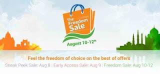 Flipkart Freedom Sale 8 august