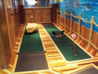 Indoor Miniature Golf at the Fairworld Amusement Arcade in Cleethorpes