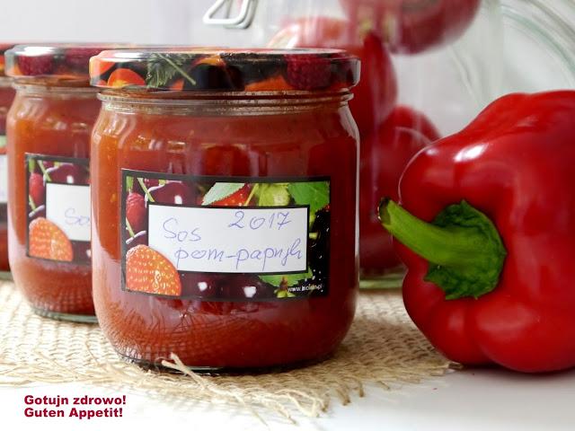 Pikantny sos pomidorowo - paprykowy do słoików na zimę - Czytaj więcej »
