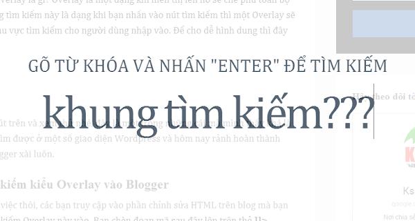 Thêm khung tìm kiếm kiểu Overlay vào Blogger