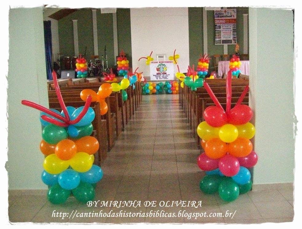Decoraç u00e3o De Festa Infantil Evangelica # Decoração De Igreja Evangelica Para Congresso Infantil