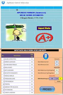 Aplikasi Katrol Nilai Siswa  SD SMP SMA