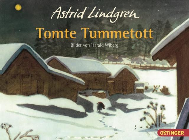 """Das Bücherboot: Weihnachtswichtel in Kinder- und Jugendbüchern (+ Verlosung). Astrid Lindgrens Kinderbuch """"Tomte Tummetott"""" ist ein tolles Wichtelbuch."""