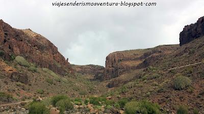 Vista amplia del barranco del Berriel