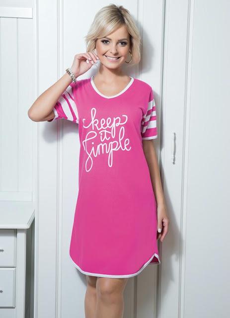 Camisola de Mangas Curtas Pink
