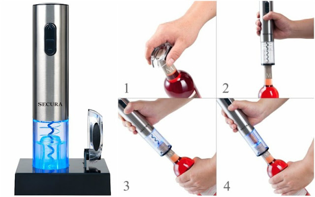 Secura Stainless Electric Wine Opener $25 (reg $39)