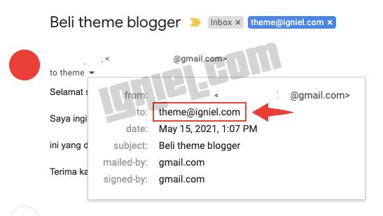 Ganti Alamat Email Admin di Formulir Kontak