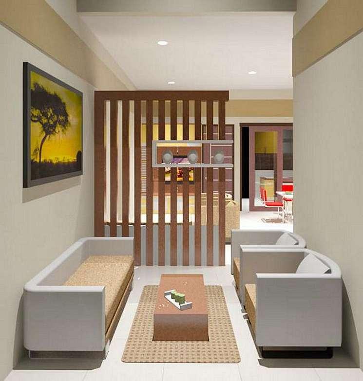 Tips Design Interior Rumah Jogja Partisi Kayu Ruang Tamu