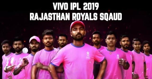 Rajasthan Royals (RR) VIVO IPL 2019 Sqaud