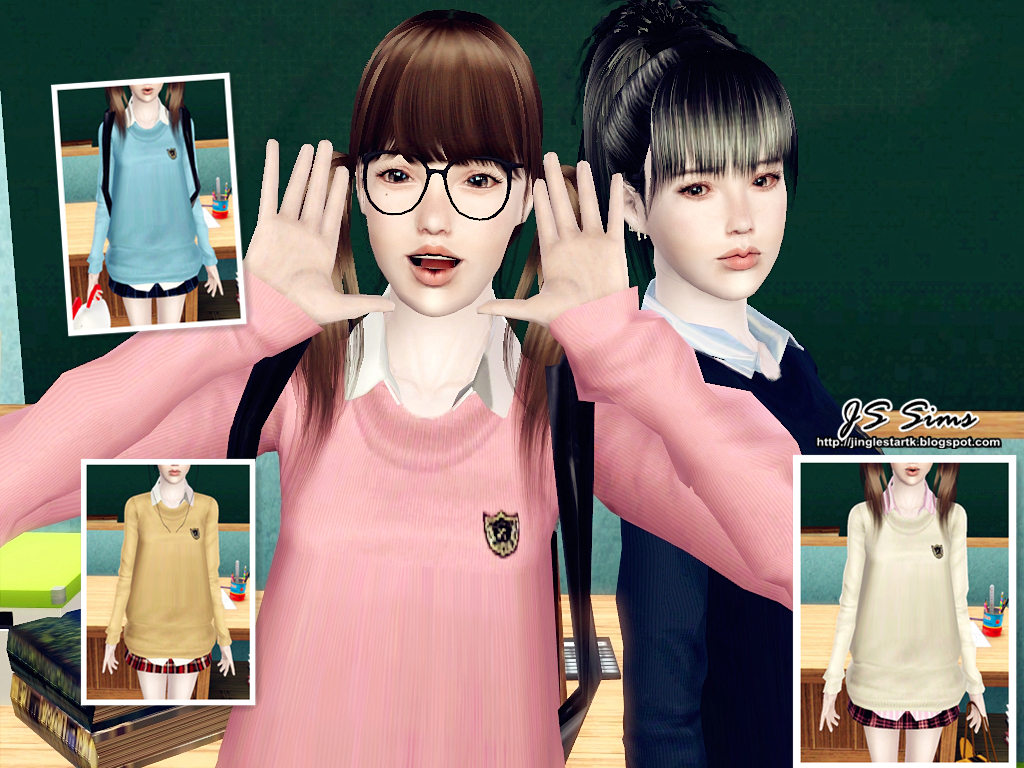Js Sims 3 Japanese School Uniform Set Move To Js Sims