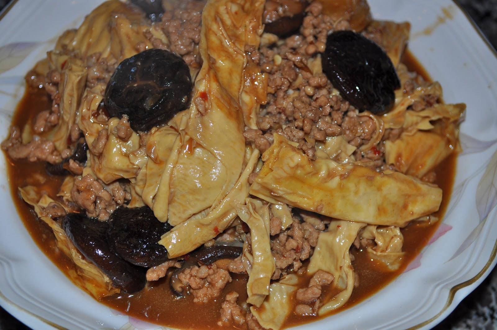 Braised Bean Curd Firm Tofu With Mushrooms Recipe Dishmaps