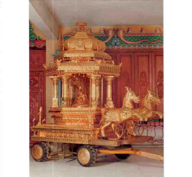 Golden Chariot Of Sri Naga Sai Temple