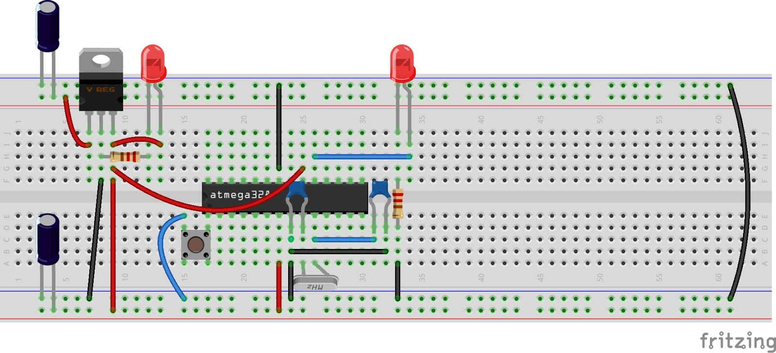Placa De Pruebas Protoboard additionally 4 Bits 7 Segment Led Display With Arduino in addition Smoke Detector Circuit furthermore Utiliser Un Bouton Poussoir moreover Watch. on breadboard