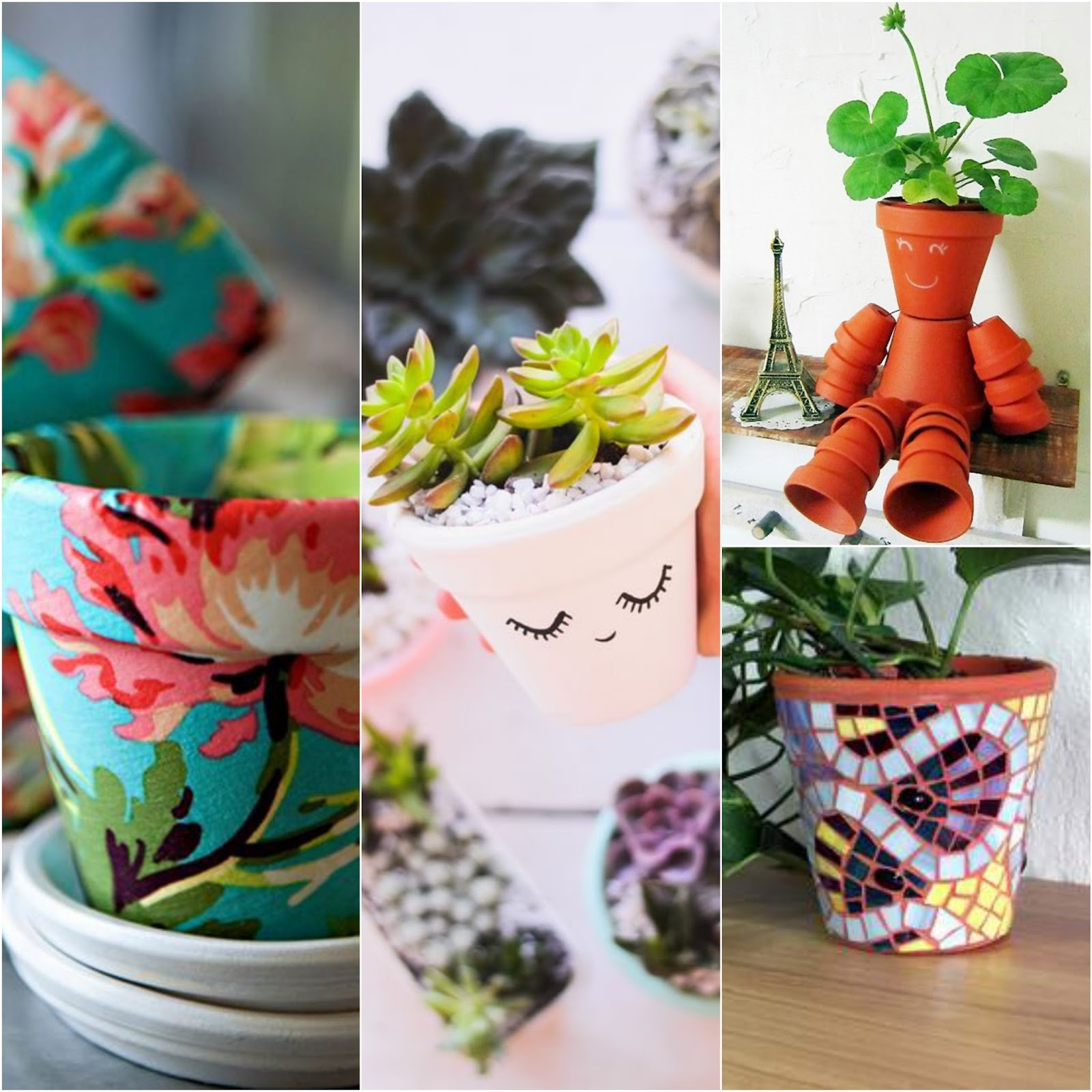 Manualidades con macetas de barro para tu hogar u oficina for Como decorar el hogar