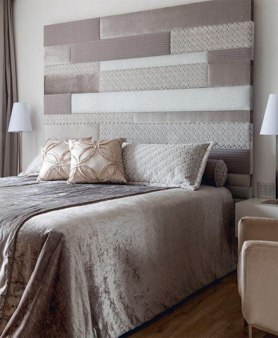 10 cabeceiras de cama estofadas para se inspirar casa - Forrar cabecero de cama ...