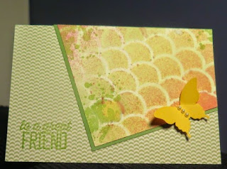 Angled spritzed card Zena Kennedy Stampin Up independent demonstrator