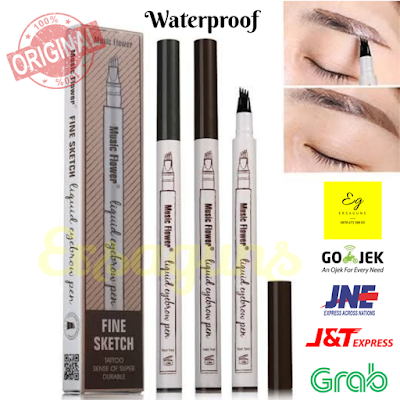 Music Flower 4-Tip Eyebrow Pen | Tattoo Eyebrow | Pensil Alis ORIGINAL