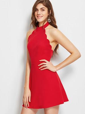 vestidos rojos de encaje cortos