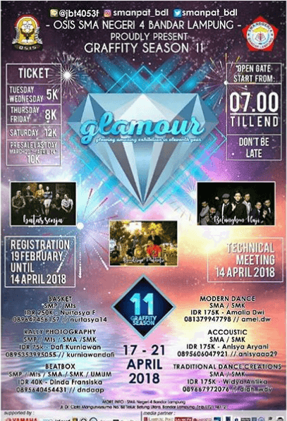 Event Gravity Season II GLAMOUR SMAN 4 Bandar Lampung