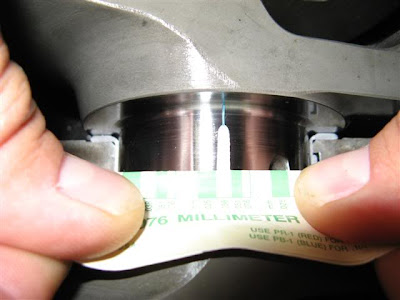 Crank Plastigauge thickness measure clearance