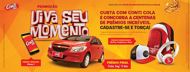 """Promoção Conti Cola: """"Viva seu Momento"""""""