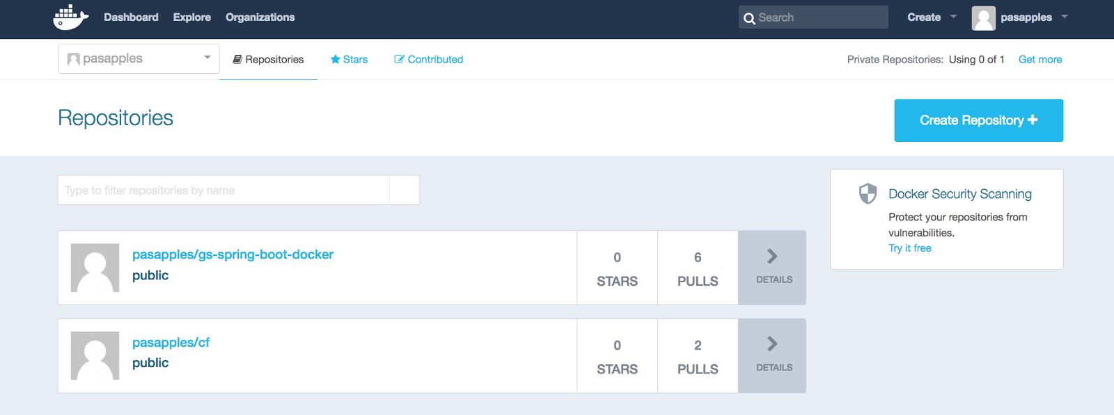 The Blas from Pas: Pushing a Docker image using Docker Hub