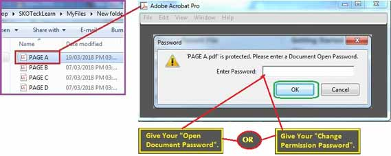 Output of Password protect PDF